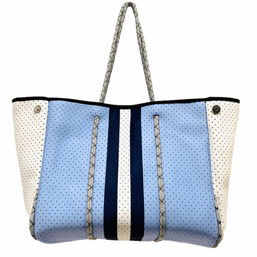 Parker & Hyde Neoprene Tote Blue Navy