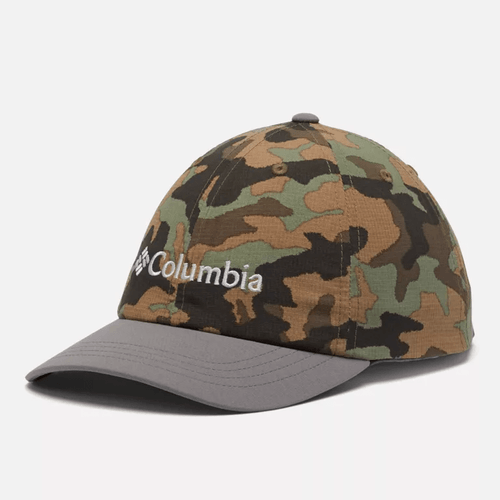 Youth Columbia Tech™ Ball Cap - Cypress Camo/City Grey Front