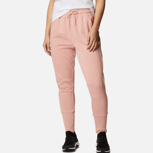 Women's Columbia Logo II French Terry Joggers 672Faux Pink Front