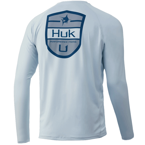 Men's Huk Long Sleeve Shield Pursuit Performance Shirt 451Plein Air Back