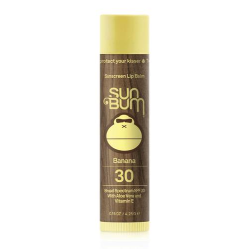 Sun Bum SPF 30 Banana Lip Balm Front