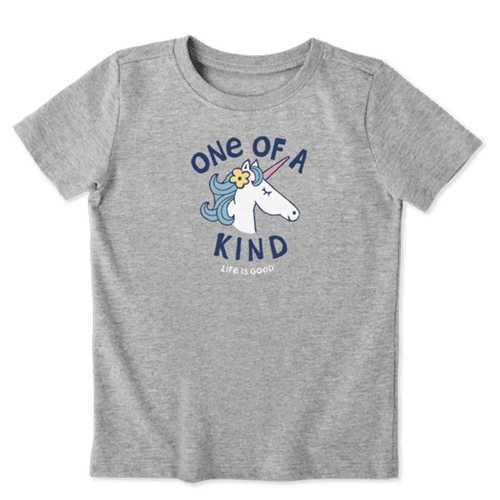 Toddler Girls' Life Is Good Kind Unicorn T-Shirt Front