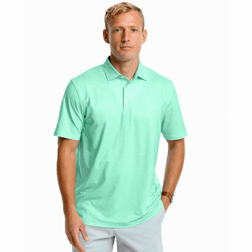 Men's Southern Tide Driver Wave Print Performance Polo Garden Grove Front