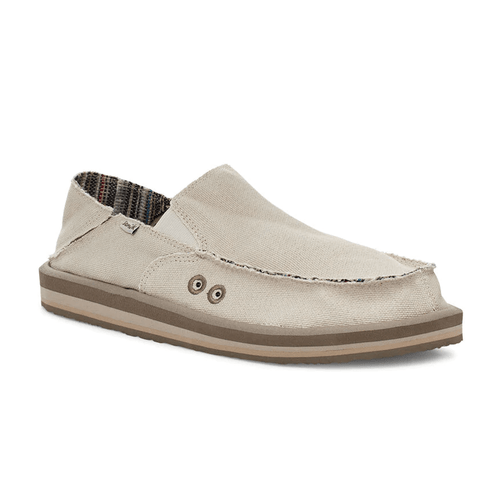 Men's Sanuk Vegabound Soft Top Hemp Sidewalk Surfers Natural Front