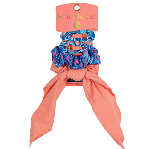 Women's Simply Southern Scrunchy Hair Ties Paisley