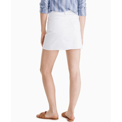 Women's Southern Tide Gabriela White Denim Skirt Back