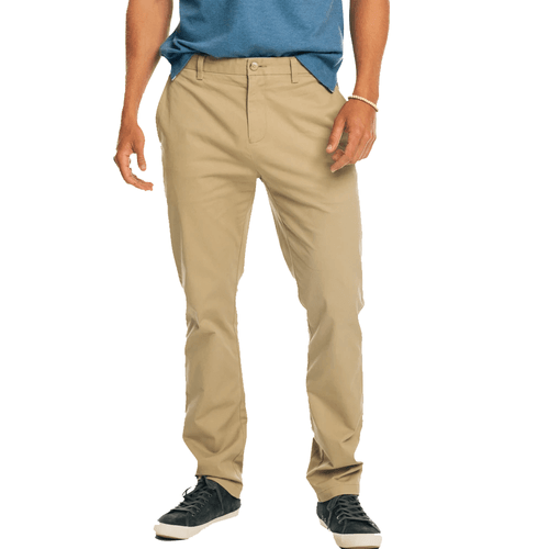 Men's Southern Tide Channel Marker Chino Pant - Sandstone Khaki Front