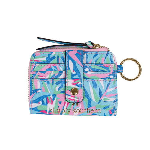 Simply Southern Leather ID Keychain Wallet Abstract Front