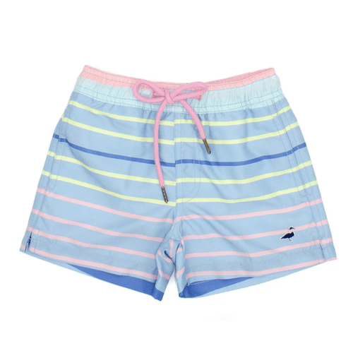 Boys' Properly Tied Swim Trunk Santa Monica Stripe