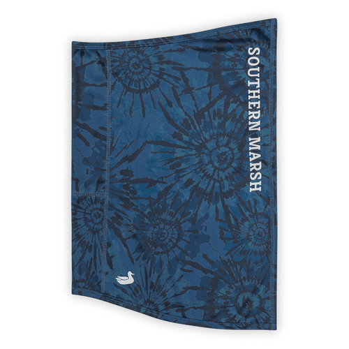 Adult Southern Marsh FieldTec™ Limitless Neck Gaiter - Blue and White Tie Dye