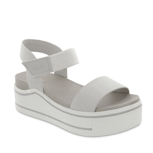 Women's Mia Odelia Wedge Sandal Off White Brusse Front