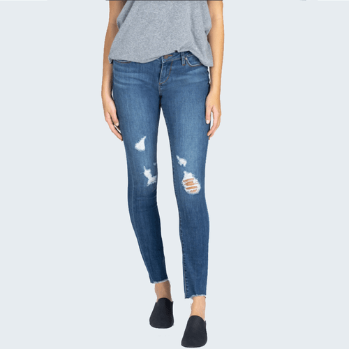 Women's Articles of Society Sarah Ankle Skinny Jean - Hilo Front