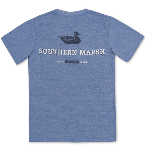 Youth Southern Marsh Short Sleeve FieldTec™ Heathered Trademark Tee Oxford Blue Back