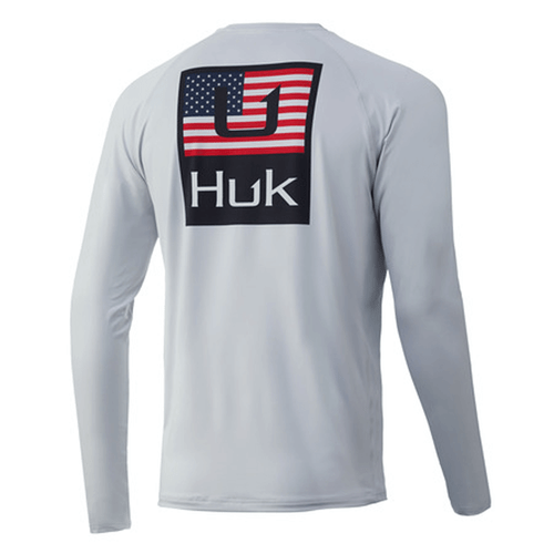 Boys' Huk Long Sleeve Huk'd Up Americana Pursuit Shirt 051Glacier Back
