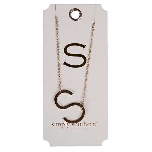 Simply Southern Gold Initial Necklace S