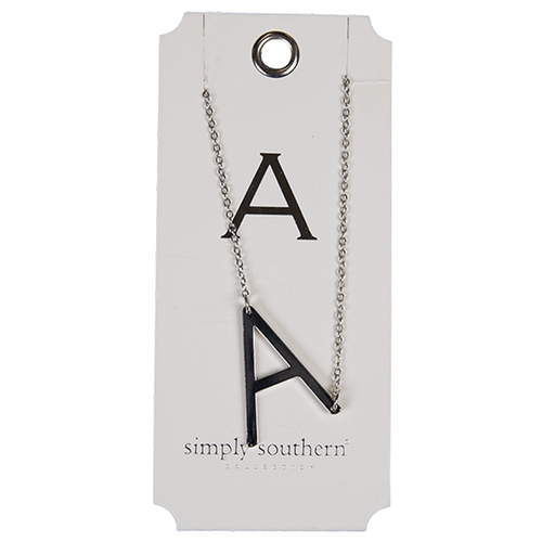 Simply Southern Silver Initial Necklace A