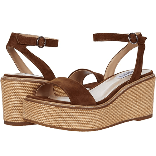 Women's Steve Madden Composed Suede Wedge Sandal Chestnut