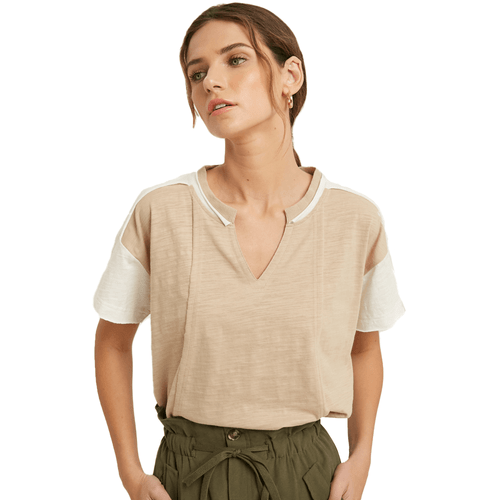 Women's Wishlist Color Block Top Taupe