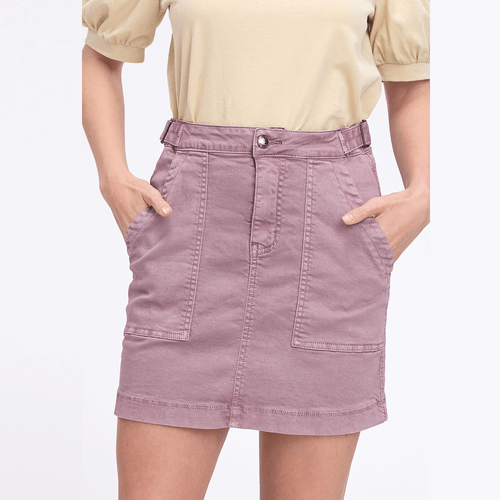 Women's Listicle Washed Cargo Skirt Mauve