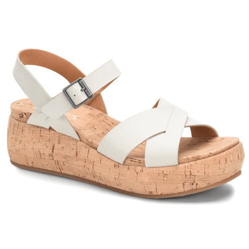 Women's Korks Kalie Wedge White
