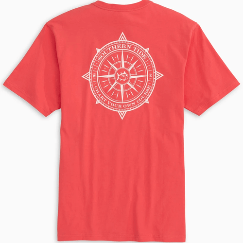 Men's Southern Tide Chart Your Own Course Short Sleeve Tee - Sonar Red Back