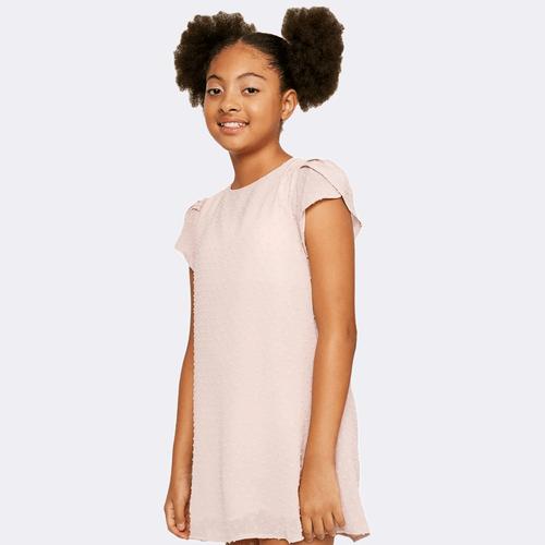 Girls' Hayden Textured Shift Dress Pink