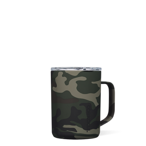 Corkcicle 16 oz Coffee Mug-Woodland Camo