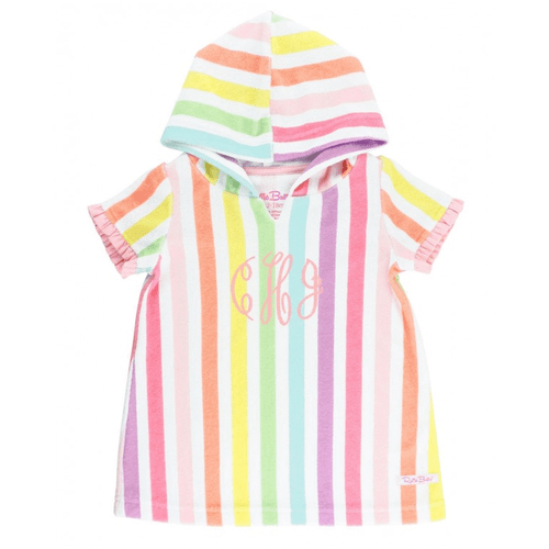 Infant & Toddler Girls' Ruffle Butts Terry Cover-Up Rainbow