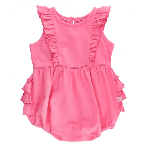 Infant & Toddler Girls' Ruffle Butts Bubble Romper Rose Waterfall