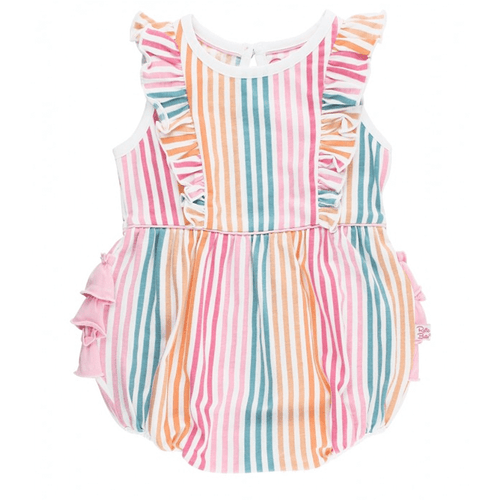 Infant & Toddler Girls' Ruffle Butts Waterfall Bubble Romper Dreamsicle