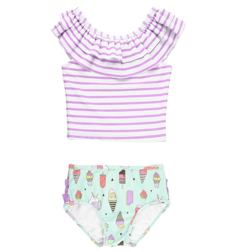 Infant & Toddler Girls' Ruffle Butts Stripe Ruffled Tankini -Anything is Possible