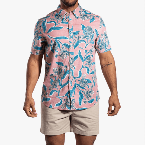 Men's Chubbies The Boom Shaker Button Up Front
