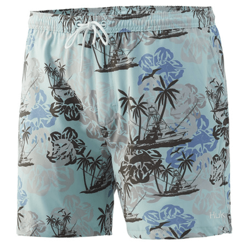 "Men's Huk 5.5"" Paradise Pass Volley Swim Short 350Seafoam Front"