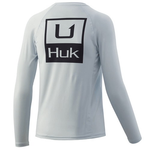 Boys' Huk Huk'd Up Pursuit Long Sleeve Performance Tee - Plein Air Back
