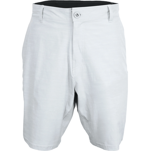 Men's Aftco 365 Hybrid Chino Shorts Light Gray Front