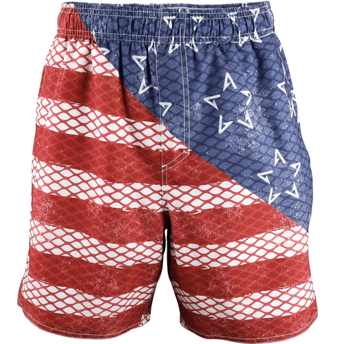Men's Aftco Boatbar Swim Trunks Red Front