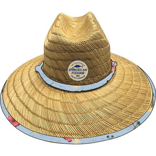 Adult Aftco Hawaiian Classic Straw Hat Natural