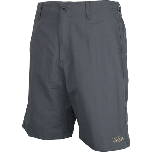Boys' Aftco Everyday Fishing Shorts Charcoal Front