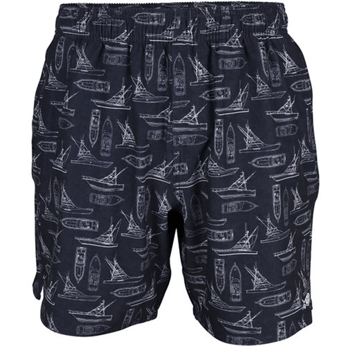 Men's Aftco Captain's Lounge Stretch Swim Trunk Navy Front