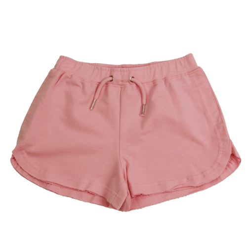 Girls' Paper Flower Raw Edge Short Front