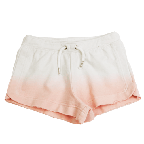Girls' Paper Flower Dip Dye Raw Edge Short Rose Front
