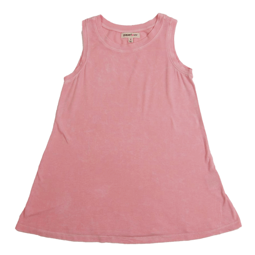 Girls' Paper Flower Washed Swing Tank