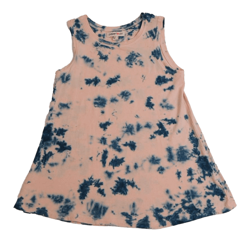 Girls' Paper Flower Tie Dye Swing Tank Channel Blue