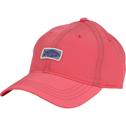 Women's Aftco Original Fishing Hat Coral Front