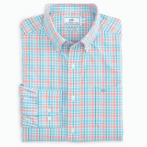 Men's Southern Tide Calero Check Sport Shirt Front