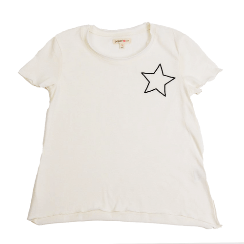 Girls' Paper Flower Hi-Low Star Hit Top