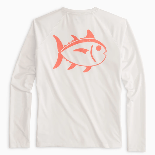 Women's Southern Tide Long Sleeve Skip Jack Performance Tee Back