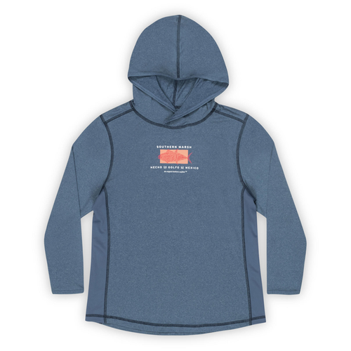 Boys' Southern Marsh Fieldtec Hoodie-Gulf Washed Navy Front