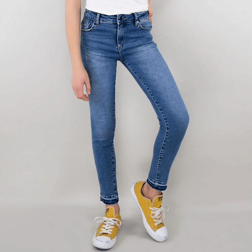 Girls' Tractr Nina High Rise Release Hem Skinny Jeans