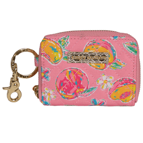 Simply Southern Quilted Key ID Holder Peachy Front